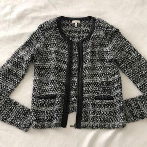 Joie tweed cardigan jacket size small